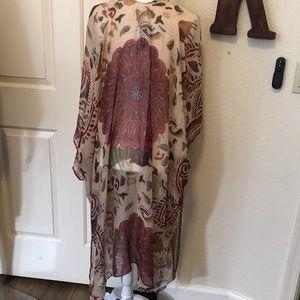 Woven Heart Boho Style Kimono Fall Colors XL NWT